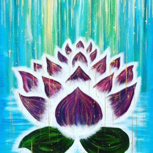 """""""Lotus Sparkle"""" 80*100 cm Såld"""